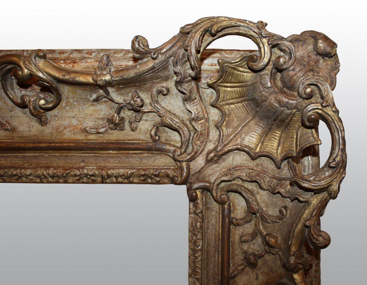 grand cadre en bois sculpt jour xviiie si cle. Black Bedroom Furniture Sets. Home Design Ideas