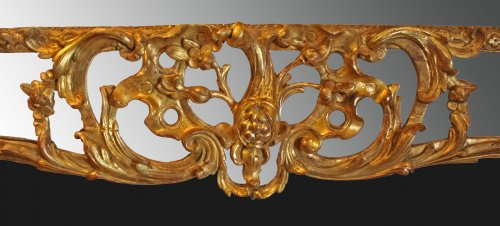 Regence giltwood Mirror 'aux Dragons ailés'  - Mirrors, Trumeau Style French Regence