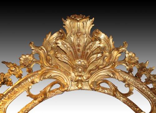 Mirrors, Trumeau  - Regence giltwood Mirror 'aux Dragons ailés'