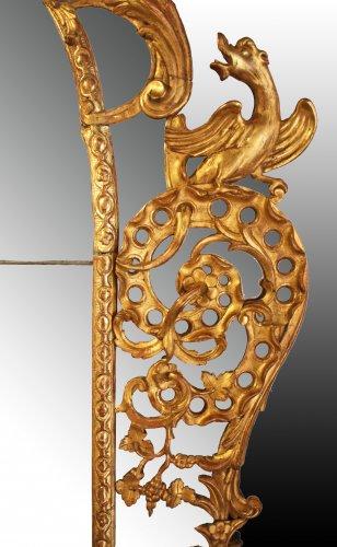 Regence giltwood Mirror 'aux Dragons ailés'  -