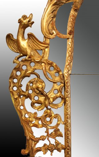 18th century - Regence giltwood Mirror 'aux Dragons ailés'