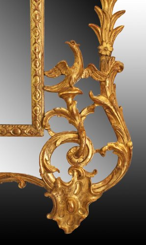 Regence giltwood Mirror 'aux Dragons ailés'  - French Regence