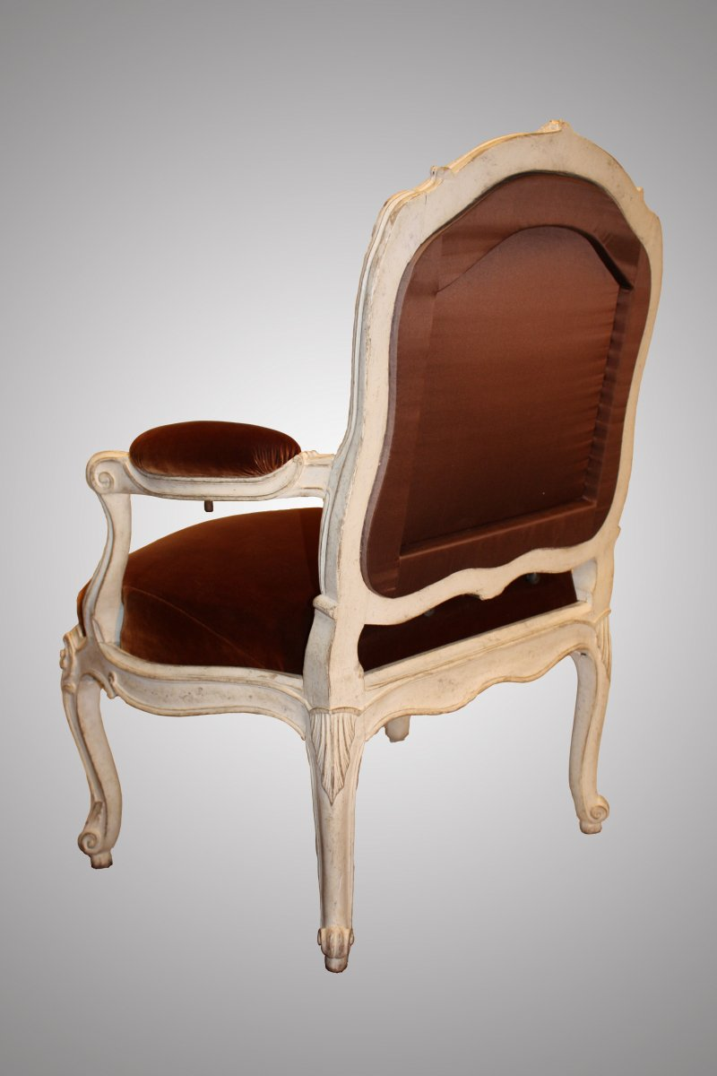 rare louis xv fauteuil ch ssis by nadal l 39 ain. Black Bedroom Furniture Sets. Home Design Ideas