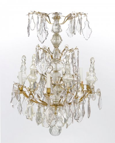 Lighting  - A pair of Louis XV Chandeliers