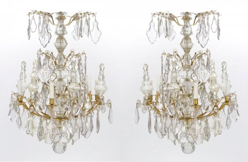 A pair of Louis XV Chandeliers  -