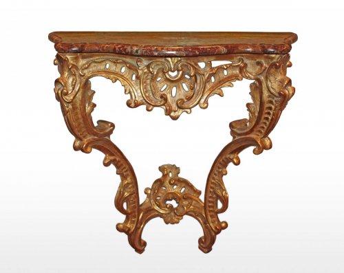 A Louis XV giltwood Console d'applique