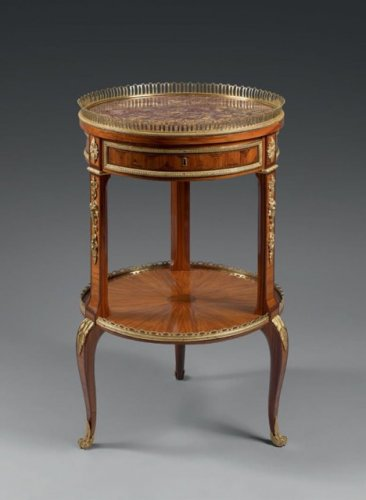 A Transitional Table 'en chiffonnière' attributed to Martin Carlin