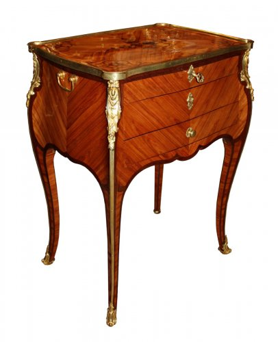"A Louis XV ormolu-mounted writing Table ""en Chiffonnière"""