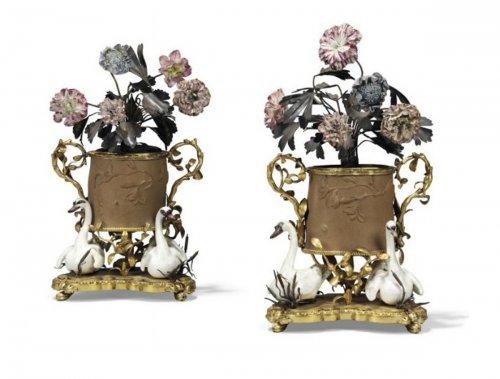A set or four Louis XV brûle-parfum