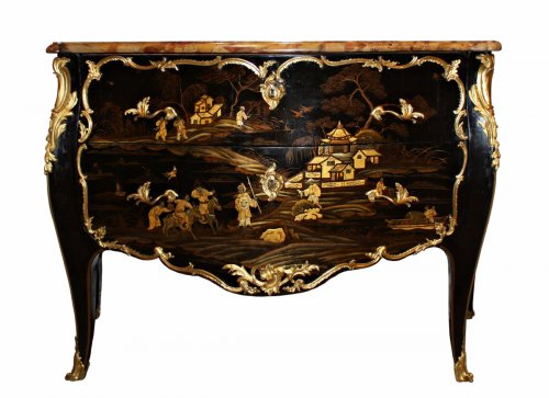 A Louis XV ormolu-mounted  Vernis Européen Commode stamped by Louis Foureau
