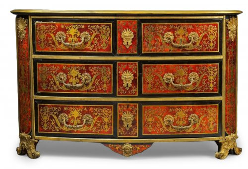 A Louis XIV ormolu-mounted  Boulle Marquetry Commode attributed to Nicolas