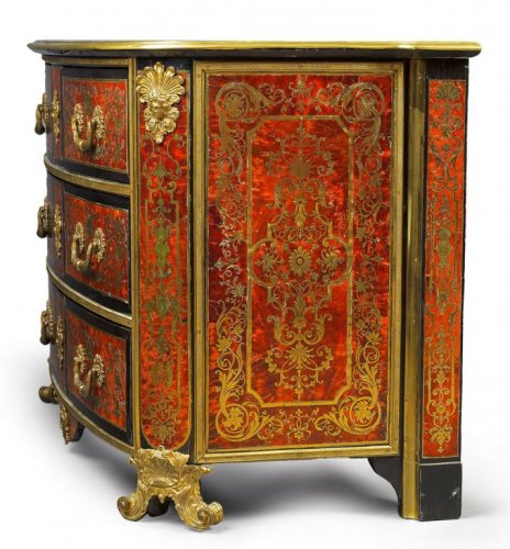 A Louis XIV ormolu-mounted  Boulle Marquetry Commode attributed to Nicolas  - Furniture Style Louis XIV