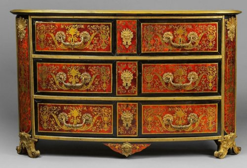 A Louis XIV ormolu-mounted  Boulle Marquetry Commode attributed to Nicolas  -