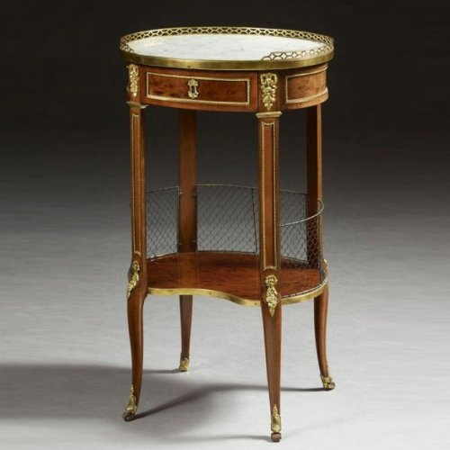 A Transitional ormolu-mounted mahogany  Table de Salon stamped J.L. Cosson