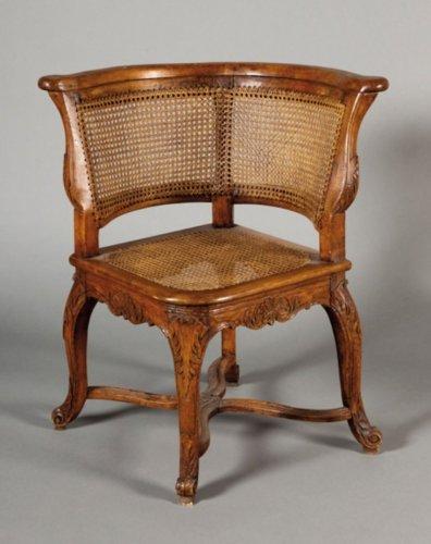 A Regence Fauteuil de Bureau - Seating Style French Regence