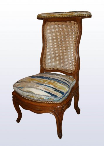 A pair of Louis XV caned  beechwood Ponteuses  by Sulpice Brizard - Seating Style Louis XV