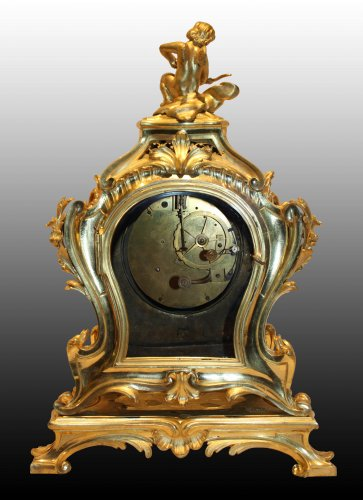 Important Louis XV Mantel Clock by Jérôme Cellier -