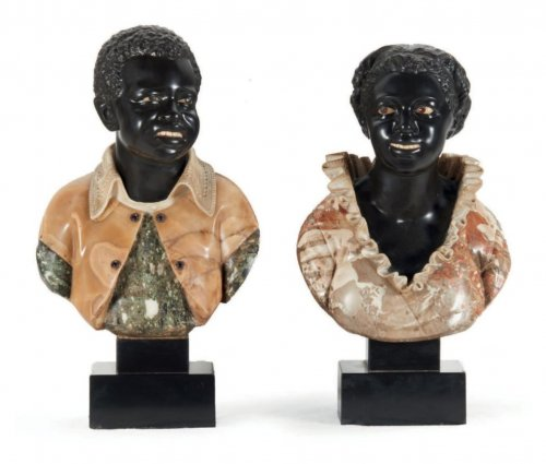 Busts of young Nubians