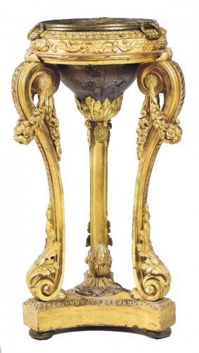 A Louis XVI giltwood Athenienne