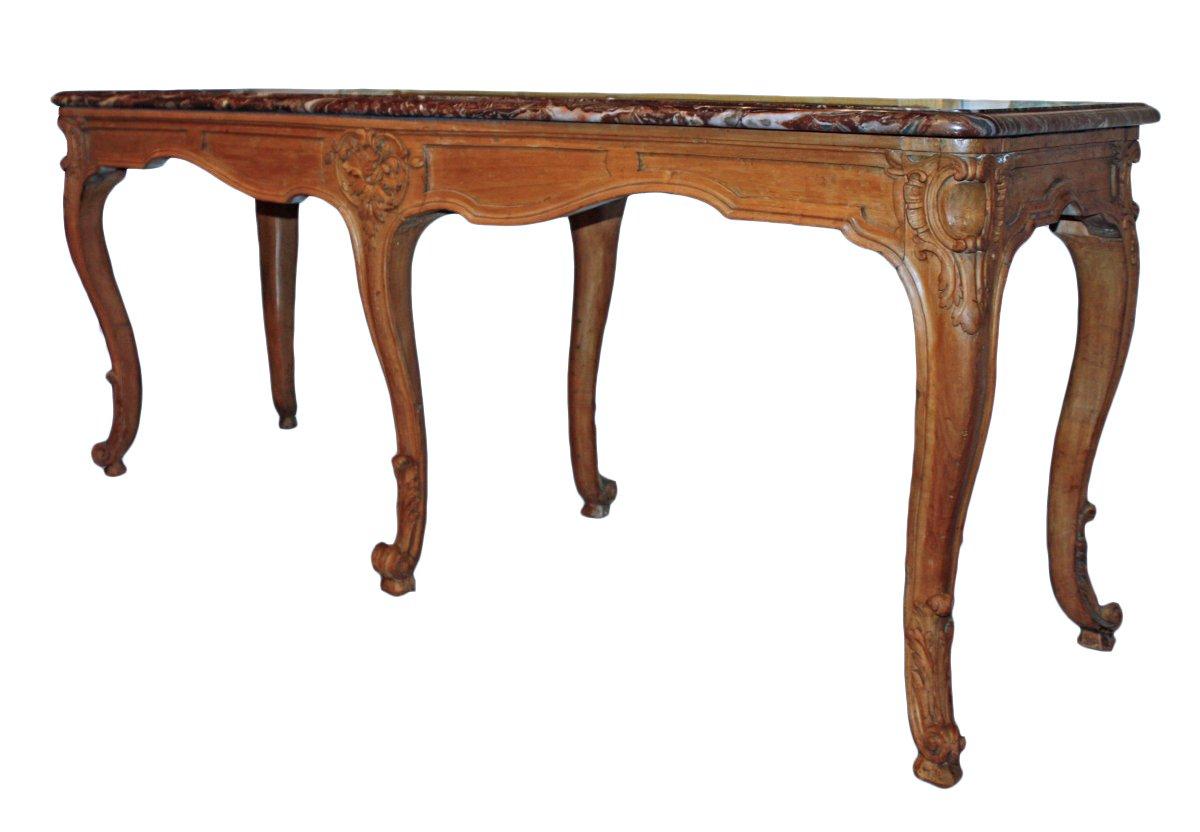 a louis xv carved wood table de milieu. Black Bedroom Furniture Sets. Home Design Ideas