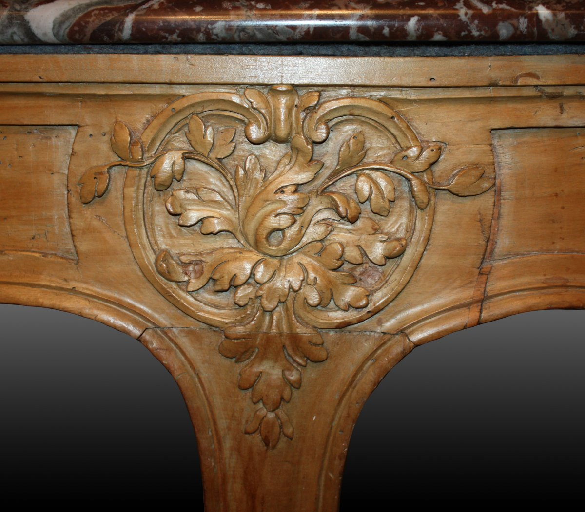 A Louis XV Carved Wood Table De Milieu   Furniture Style Louis XV ...