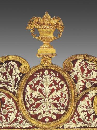 Mirrors, Trumeau  - A Charles XII glass-gilded 'Miroir à fronton' by Gustav Precht