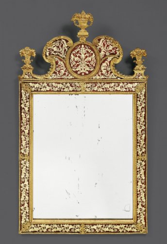 A Charles XII glass-gilded 'Miroir à fronton' by Gustav Precht -