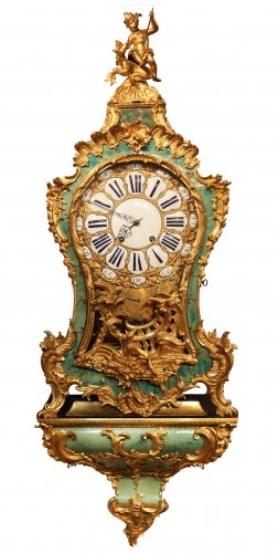 A Louis XV musical bracket Clock by Joseph de Saint-Germain