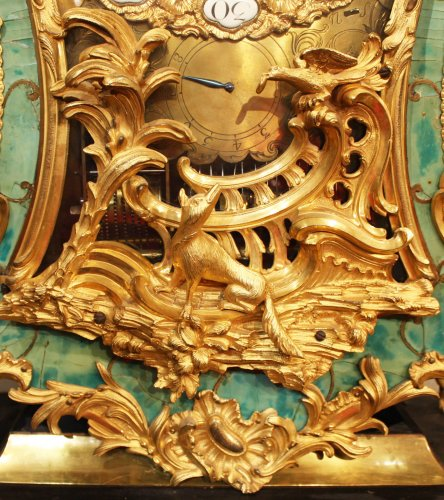 A Louis XV musical bracket Clock by Joseph de Saint-Germain - Clocks Style Louis XV