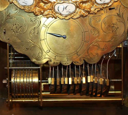 Clocks  - A Louis XV musical bracket Clock by Joseph de Saint-Germain