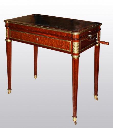 table d 39 architecte m canisme par adam weisweiler xviiie si cle. Black Bedroom Furniture Sets. Home Design Ideas