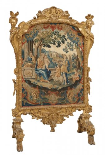 """A Louis XIV giltwood Fire-Screen """"aux Espagnolettes"""""""