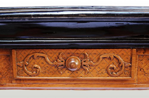 A Regence carved games Table - French Regence