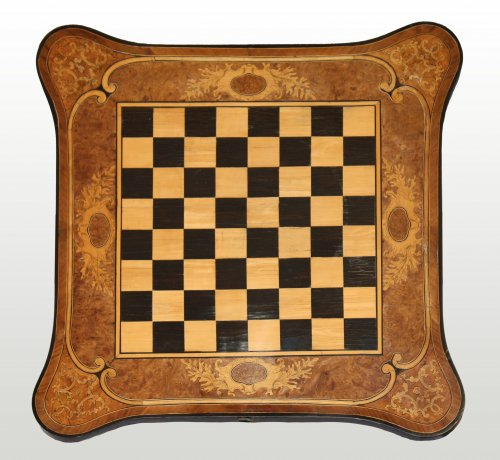 Antiquités - A Regence carved games Table