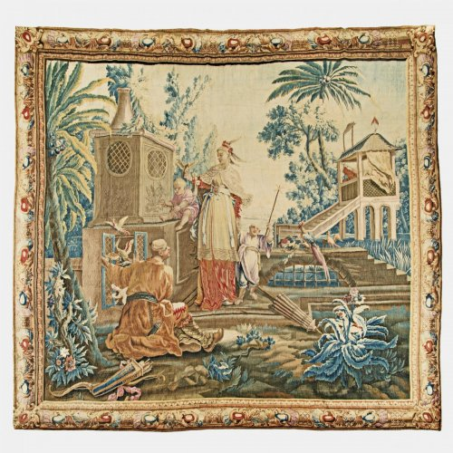 """A Louis XV Aubusson Chinoiserie Tapestry from the series """"Tenture Chinoise"""" - Tapestry Style"""