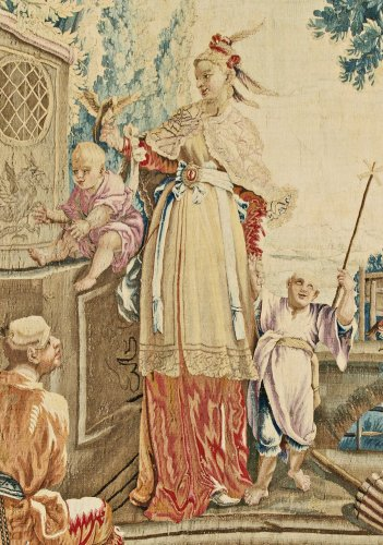 """A Louis XV Aubusson Chinoiserie Tapestry from the series """"Tenture Chinoise"""" -"""