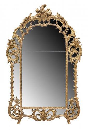 "A Regence giltwood Mirror ""à Parecloses"""