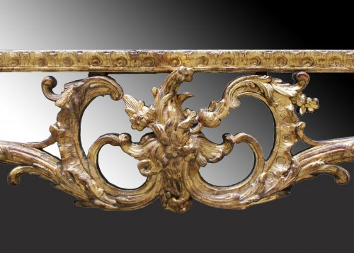 "A Regence giltwood Mirror ""à Parecloses"" - Mirrors, Trumeau Style French Regence"