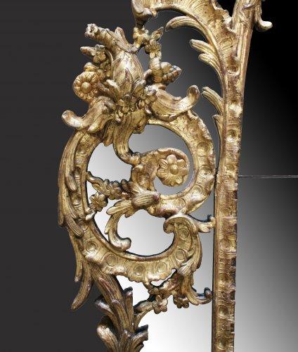 "A Regence giltwood Mirror ""à Parecloses"" -"