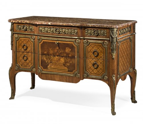A Louis XV - Louis XVI Transitional Commode  by RVLC