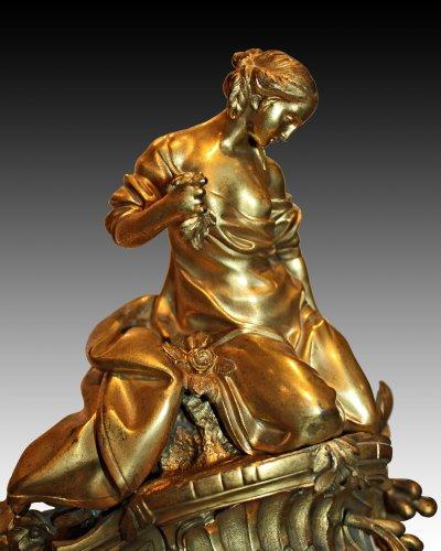 Clocks  - A Louis XV ormolu-bronze Mantel Clock  representing the Rape of Europa