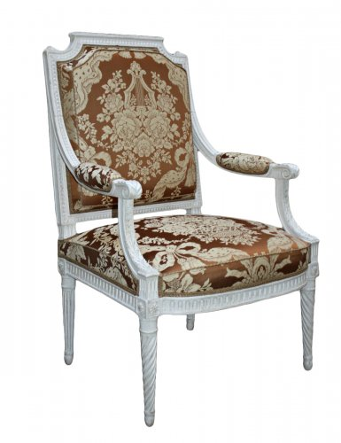 A pair of Louis XVI 'à la Reine' Armchairs by Georges Jacob