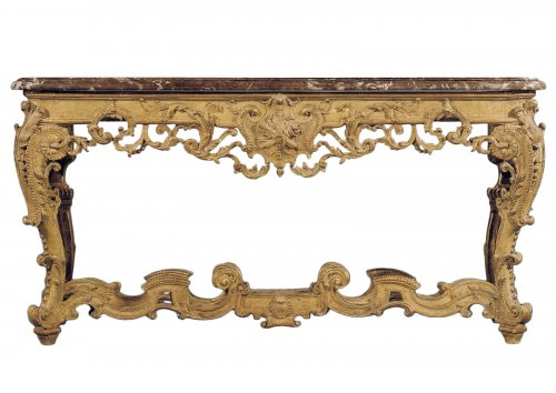 An Important Regence giltwood Console Table
