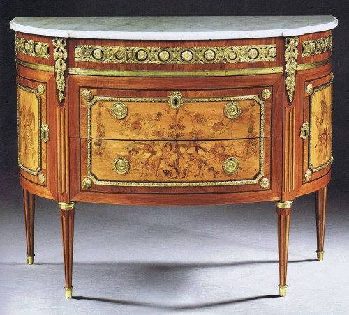 A Louis XVI demi-lune Commode by Charles Topino - Furniture Style Louis XVI