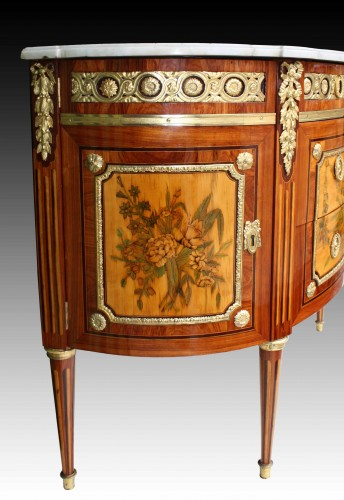 18th century -  A Louis XVI demi-lune Commode by Charles Topino