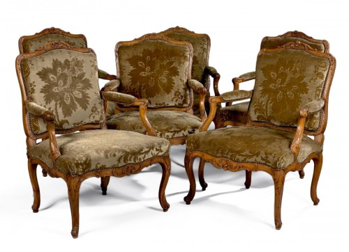 A set of Louis XV Fauteuils