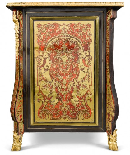 "A Louis XIV ""Boulle"" marquetry Commode attributed to Nicolas Sageot -"
