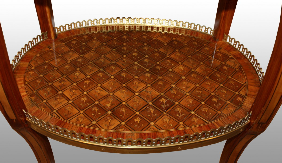 Furniture A Transitional Louis Xv Xvi Table En Chiffonnière