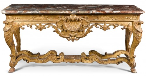 An Important Regence giltwood  Console-Table - Furniture Style French Regence