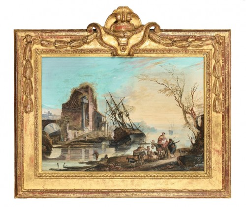 A pair of Gouaches  by Jean-Baptiste Lallemand - Paintings & Drawings Style